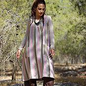 Одежда ручной работы. Ярмарка Мастеров - ручная работа Платье-туника льняная. Handmade.
