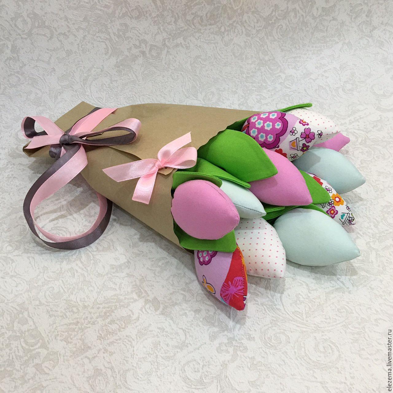 Букет из тюльпанов из ткани своими руками 90