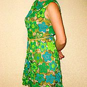 Одежда ручной работы. Ярмарка Мастеров - ручная работа Платье ЛЕСНАЯ НИМФА (связанное в технике ирландское кружево). Handmade.