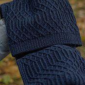 """Аксессуары ручной работы. Ярмарка Мастеров - ручная работа Комплект мужской """"The deep blue sea"""" шарф и шапка. Handmade."""