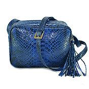 Сумки и аксессуары handmade. Livemaster - original item A neat handbag made from Python. Handmade.