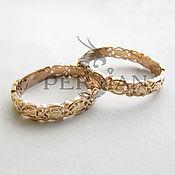 Украшения handmade. Livemaster - original item Gold wedding rings beautiful birds of Paradise. Handmade.