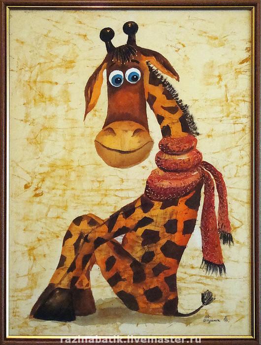 38*53 Жираф в шарфе