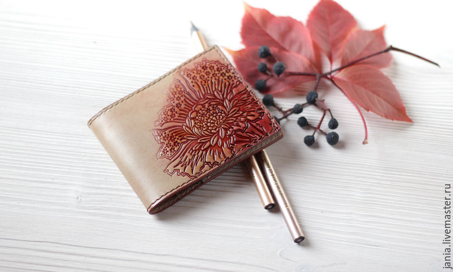 Wallet cardholders of leather colours of Autumn, Business card holders, Ivanovo,  Фото №1