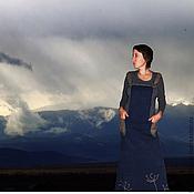 """Одежда ручной работы. Ярмарка Мастеров - ручная работа сарафан """"Синева гор"""". Handmade."""