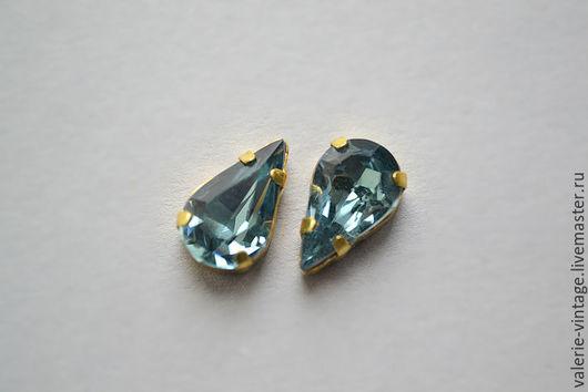 Для украшений ручной работы. Ярмарка Мастеров - ручная работа. Купить Винтажные кристаллы Swarovski 13х7,8 мм. цвет Indian Sapphire. Handmade.