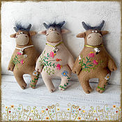 Куклы и игрушки handmade. Livemaster - original item Soft toys: Bulls - a symbol of 2021. Handmade.