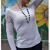 Одежда handmade. Livemaster - original item Women`s cardigan with pointelle shoulder