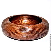 Посуда handmade. Livemaster - original item 14,5 cm textured wooden food bowl V12. Handmade.