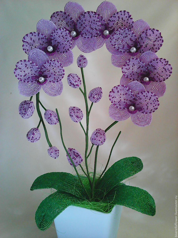 подробная картинка орхидея из бисера дело рисовать