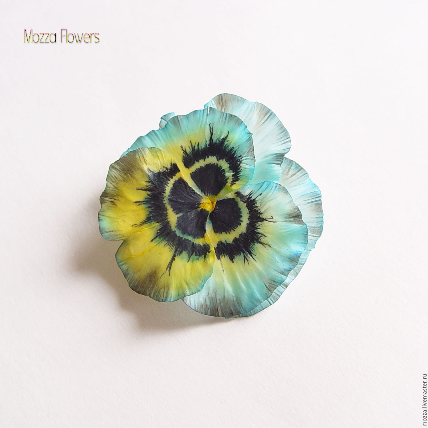 Hair clip brooch 'Pansies'. polymer clay, Brooches, Zarechny,  Фото №1