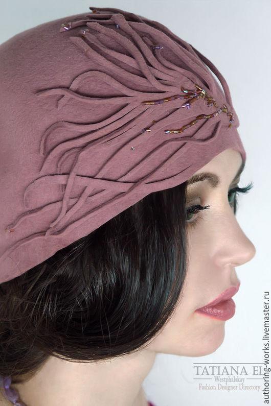 Шляпы ручной работы. Ярмарка Мастеров - ручная работа. Купить Шляпка АК.Ш0003. Handmade. Бледно-розовый, шляпка женская