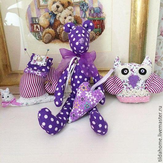 Красивый набор игрушек для малышей: Bear, snail, owl, heart.