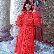 Одежда ручной работы. Ярмарка Мастеров - ручная работа вязаное пальто ЛИЛИ. Handmade.