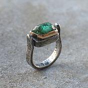 handmade. Livemaster - original item Emerald ring, silver and gold. Handmade.