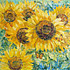 Order oil painting 'Sunflowers'. Pictures for the soul (RozaSavinova). Livemaster. . Pictures Фото №3
