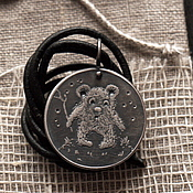 """Украшения ручной работы. Ярмарка Мастеров - ручная работа Медальон """"Мишка"""". Handmade."""