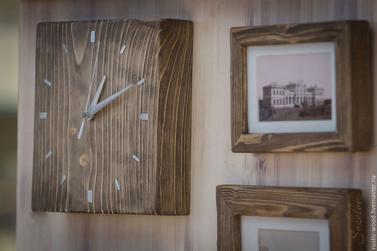Часы для дома ручной работы. Ярмарка Мастеров - ручная работа. Купить Часы настенные из массива сосны. Handmade. Часы