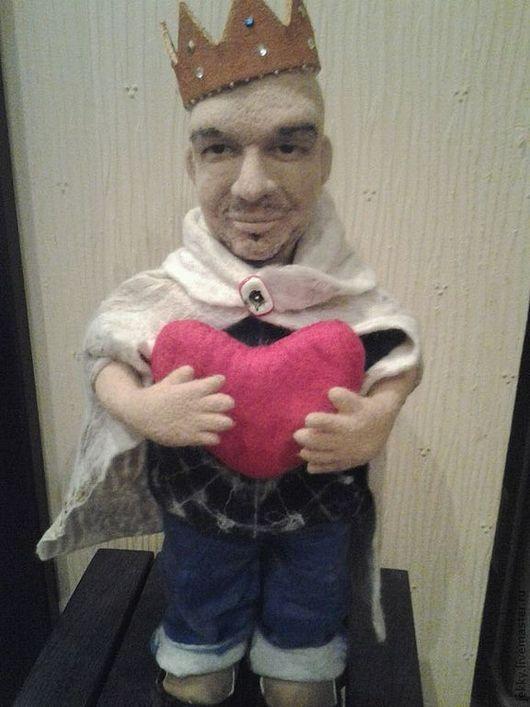 Портретные куклы ручной работы. Ярмарка Мастеров - ручная работа. Купить Портретная кукла на заказ по фото - Король Ее Сердца. Handmade.