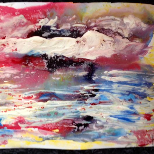 Абстракция ручной работы. Ярмарка Мастеров - ручная работа. Купить Стихия воды.. Handmade. Ярко-красный, картина в гостиную