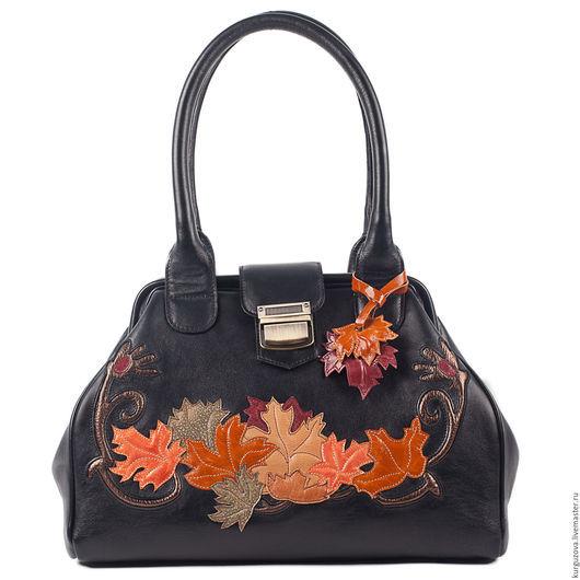 Женские сумки ручной работы. Ярмарка Мастеров - ручная работа. Купить Осень. Handmade. Черный, черная сумка, сумка женская