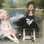 Статуэтки ручной работы. Ярмарка Мастеров - ручная работа Куколки балерины Одиллия и Одетта из Лебединого озера. Handmade.