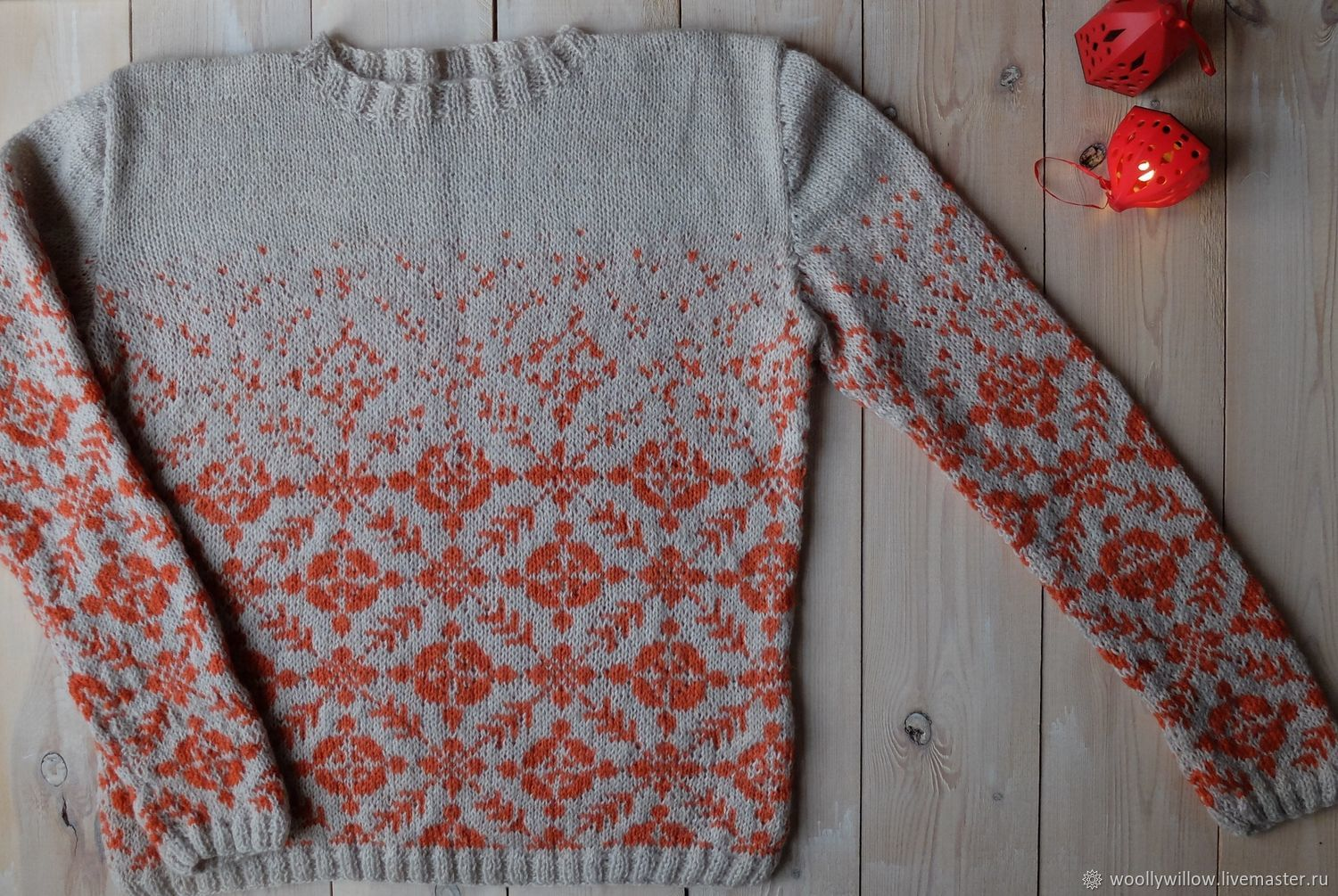 Women's knitted jumper Running-running. Winter and tangerines. :), Jumpers, St. Petersburg,  Фото №1