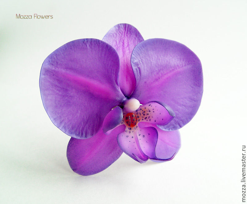 Orchid 'Ultraviolet'. polymer clay, Hairpins, Zarechny,  Фото №1
