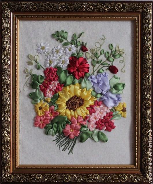 """Картины цветов ручной работы. Ярмарка Мастеров - ручная работа. Купить Картина """"Летний букет"""". Handmade. Разноцветный, букет"""