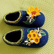 """Обувь ручной работы. Ярмарка Мастеров - ручная работа Домашние тапочки """"Пчёлки"""". Handmade."""