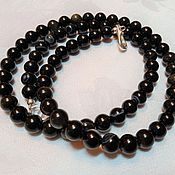 Украшения handmade. Livemaster - original item Men`s bracelet-winding of obsidian,onyx, silver with magnetic lock. Handmade.