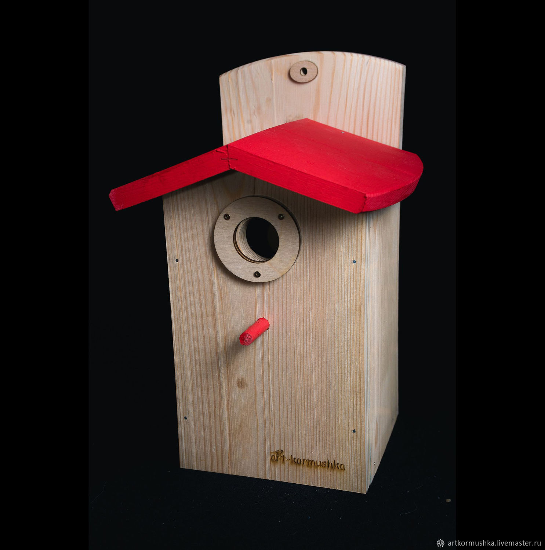 Sinichkin a birdhouse for the birds handmade 'Scarlet', Bird feeders, Moscow,  Фото №1