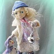 """Куклы и игрушки ручной работы. Ярмарка Мастеров - ручная работа Авторская кукла из шерсти """"Снежный Ангел"""". Handmade."""