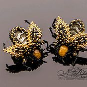 Украшения handmade. Livemaster - original item Cufflinks bees, bugs, spiders, ladybugs, butterflies...at choice. Handmade.