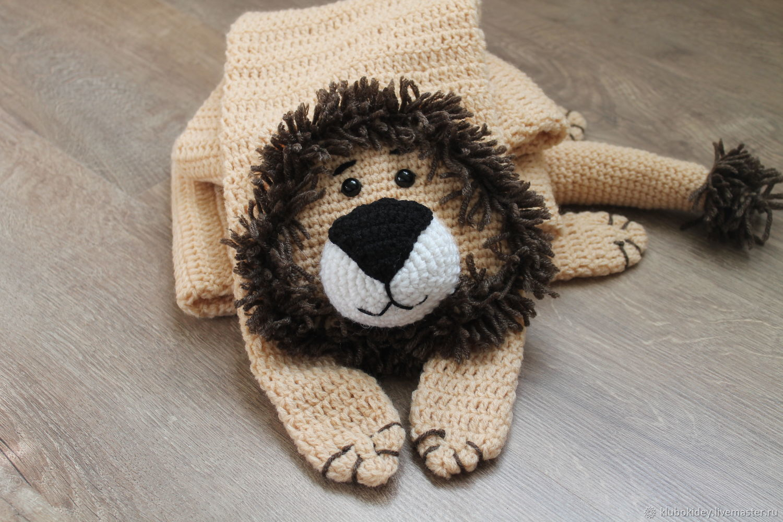 Scarf 'lion' men's women's children's animal scarf, Scarves, Cherepovets,  Фото №1