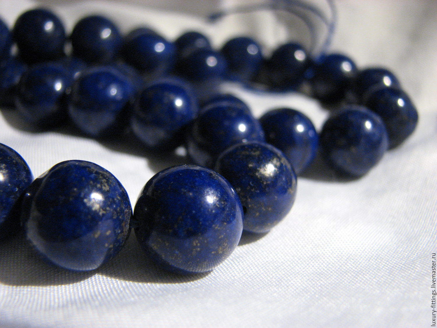 Lapis lazuli with pyrite smooth ball, natural, beads, 12 mm, Beads1, Moscow,  Фото №1