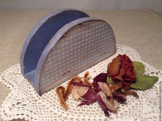"""Кухня ручной работы. Ярмарка Мастеров - ручная работа. Купить Салфетница """"Голубой Прованс"""". Handmade. Голубой, кухонные принадлежности"""