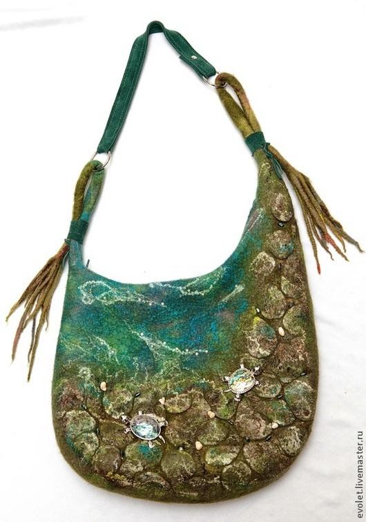 Сумка, авторская сумка, купить сумку, сумка валяная, войлочная сумка Горбунова Оксана `Evolet`
