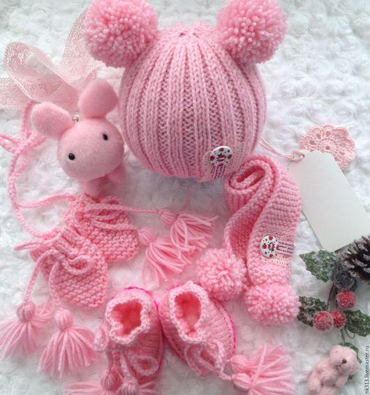 """Одежда для кукол ручной работы. Ярмарка Мастеров - ручная работа. Купить Комплект для куклы """"Розовый"""". Handmade. Бледно-розовый, одежда"""