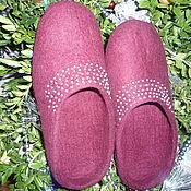 Обувь ручной работы. Ярмарка Мастеров - ручная работа Тапочки войлочные Королевские. Handmade.