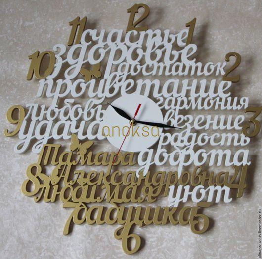 Часы для дома ручной работы. Ярмарка Мастеров - ручная работа. Купить Часы Любимая бабушка. Handmade. Комбинированный, часы в подарок