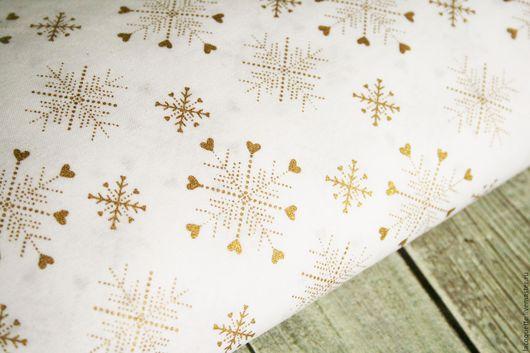 Шитье ручной работы. Ярмарка Мастеров - ручная работа. Купить США Новогодняя ткань для пэчворка. Handmade. Ткань сша новогодняя
