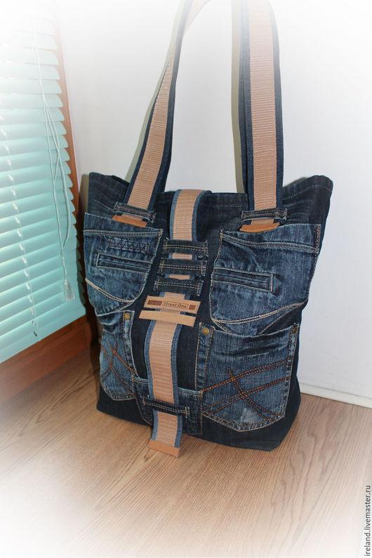 Женские сумки ручной работы. Ярмарка Мастеров - ручная работа. Купить Джинсовая сумка 20. Handmade. Комбинированный, джинсовая ткань