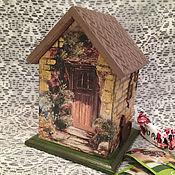 Для дома и интерьера ручной работы. Ярмарка Мастеров - ручная работа чайный домик домик для чая Уют на кухню подарок декупаж. Handmade.