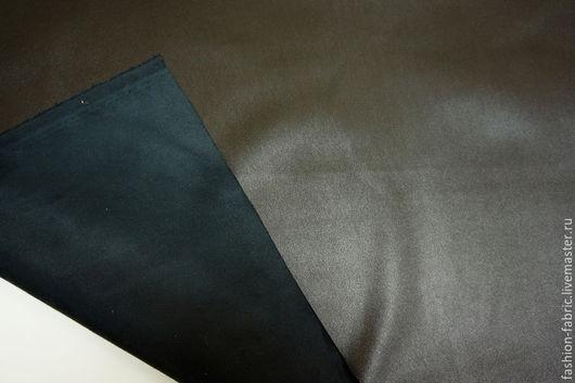 Шитье ручной работы. Ярмарка Мастеров - ручная работа. Купить Кожзаменитель двусторонний с замшей темный шоколад 24021602 PRT Италия. Handmade.
