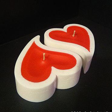 Для дома и интерьера ручной работы. Ярмарка Мастеров - ручная работа Свечи: свеча сердце инь-янь. Handmade.