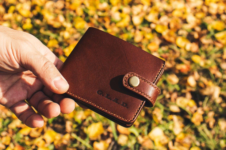 Bifold brown leather wallet, Wallets, Volzhsky,  Фото №1