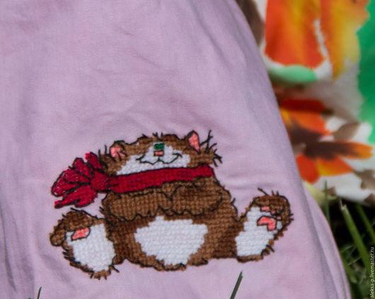 Женские сумки ручной работы. Ярмарка Мастеров - ручная работа. Купить Сумка-кошелек с милым котиком. Handmade. Бледно-розовый