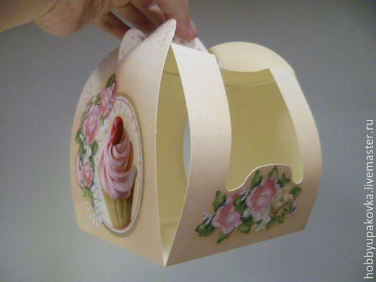 Упаковка ручной работы. Ярмарка Мастеров - ручная работа. Купить Коробка-крафт 10х10х12 см на один капкейк. Handmade. Крафт