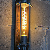 """Бра ручной работы. Ярмарка Мастеров - ручная работа Настенный светильник в стиле лофт/стимпанк """"Fuel my Fire"""". Handmade."""